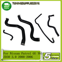 For Nissan Patrol GU Y61 ZD30 3.0 2000-05 2006 Silicone Radiator Hose Pipe Kit