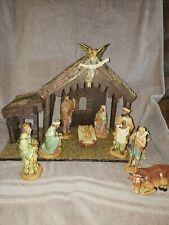 1998 DiGiovanni Heirloom Nativity By Autom 10 Pieces