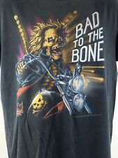 Vintage American Biker Shirt Bad To The Bone 90s Harley Biker Rocker Norton Rare