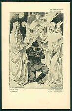 art Raemaekers Cathedral Rape WWI ww1 war propaganda original c1915 postcard