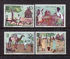 Somalia 295-298, MNH, Paintings Woman sitting on crocodile 1966. x27903