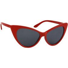 SUNGLASSES Retro CAT EYE Women's Red Frames Gray Lenses 100% UV400 Protection