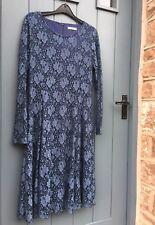 Designer KALIKO slate blue LACE PARTY/COCKTAIL EVENING DRESS UK 12 VGC worn x1!