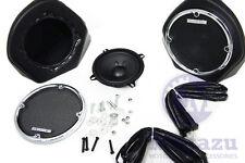 Mutazu King Tour Pak Rear Speaker Pod Kit for Harley HD Touring 98-2013 FLHX FLT