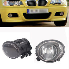 For BMW E46 E39 M TECH SPORT M3 M5  Bumper Clear Lens Fog Light Lamp +HB4 BULBS