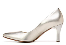 """NEW  Leather """"Naturalizer"""" Natalie Heel Classic Pumps - Shoes - Gold  - Size 9"""