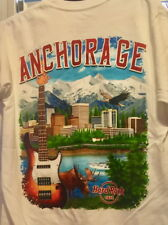 Hard Rock Cafe Anchorage 2017 City Tee T-Shirt Size Xl New White w/ Hrc Tags V17