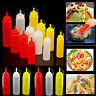 Plastic Squeeze Bottle Condiment Dispenser Kitchen Sauce Storage Restaurant