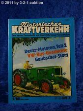 Historischer Kraftverkehr 1/88 VW Bus Deutz Motoren