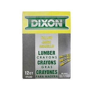 Dixon Ticonderoga 49600 Yellow Lumber Crayons (Dozen)