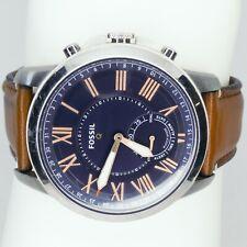 FTW1122 Fossil Grant Men's watch Silver 43 mm Adjustable Hybrid