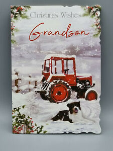 Grandson Christmas Card, Christmas Wishes Grandson  Xmas Card Merry Christmas