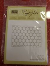 "Sizzix ""Big Shot HONEYCOMB Textured Impressions"" NEW Stampin'UP!"