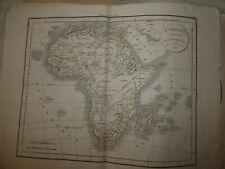 CARTE Afrique  Delamarche 1831
