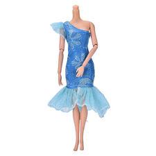 "Vestido de fiesta hermoso hecho a mano de moda para 9 ""Barbie Doll Mini LovelyH5"