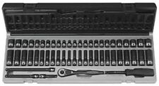 "53 Pc. 1/4"" Drive 6 Point SAE & Metric Standard and Deep Duo-Socket Set New!"