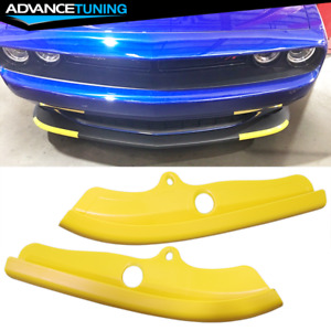 Fits 15-21 Dodge Challenger Scat Pack Front Lip Splitter Covers