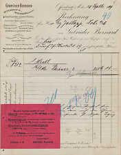 OFFENBACH, Rechnung 1909, Schnupf-Tabak- u. Zigarren-Fabrik Gebrüder Bernard