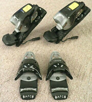 LOOK TC08 CARBON AFC SNOW SKI BINDINGS BLACK SILVER RED FRANCE SKIING VINTAGE