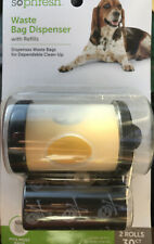 New listing So Phresh Black and Clear Dog Waste Bag Dispenser with Refills, Count of 30