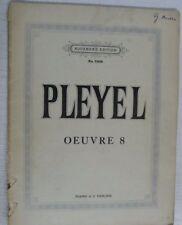 Pleyel op.8 pour 2 violons et piano, pièces