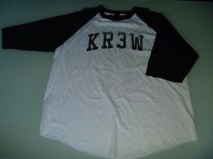 #5391 KREW 3/4 Sleeve T Shirt Size XL