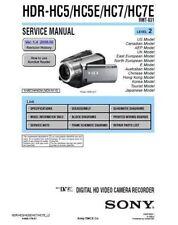 SONY HDR-HC5/HC5E/HC7/HC7E SERVICE & REPAIR MANUAL