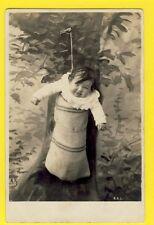 Carte Postale dos 1900 Old Postcard BÉBÉ à VENDRE Baby swaddled for Sale