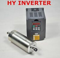 WATER-COOLED 110V 1.5KW CNC SPINDLE MOTOR AND MATCHING DRIVE INVERTER VFD 12A