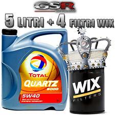 Kit tagliando PEUGEOT 207 1.4 HDI OLIO TOTAL QUARTZ 9000 5W40 5LT +4 FILTRI WIX