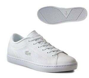 LACOSTE STRAIGHTSET 116 4 WHITE WOMENS TRAINER SHOE SIZE 3 RRP £80/- NEW