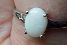 100% GENUINE Natural Coober Pedy Opal Ring in Sterling Silver 0.72cts P - Q / 8,