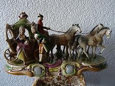 Porzellan Figur Kutsche im Rokokostil -- Gräfenthal Porzellan .