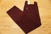 NWT MEN LEVI CORDUROY PANTS 502 Multiple Sizes Regular Taper Stretch Mulled Wine