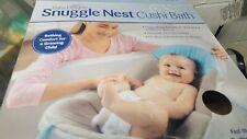 Baby Delight Snuggle Nest Cushi Bath Gray Teal