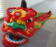 XL RED CHINESE LION DRAGON HEAD COSTUME NEW YEAR CHILDREN ADULT DANCE DISPLAY