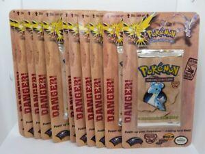 (11) Lot 1999 Factory Sealed Original Fossil Pokemon Booster Blister Packs