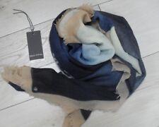 Marc O'Polo Tuch Wolle Blautöne handbemalt