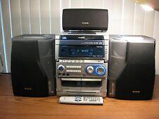 Aiwa CX-NHMT75  Compact Shelf Stereo System  3 CD Dual Tape Deck Bi Amp w/Remote