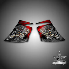 SKI-DOO REV MXZ SNOWMOBILE WRAP GRAPHIC SIDE PANEL DECAL 03-07 OUTLAW RED