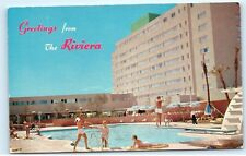 *Riviera Hotel Las Vegas Nevada Pool Diving Board Vintage Postcard B38