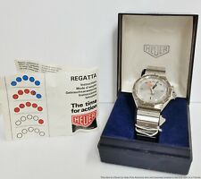 Heuer 134.500 Regatta Unworn New Old Stock Box Papers Watch