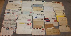 VINTAGE LOT OF 47 CORRESPONDENCE LETTERS 1935-1985 WWII KOREAN WAR ITALY & MORE