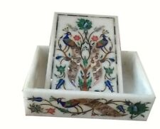 Marble Box handmade semi precious stone floral inlay art decor and gifts