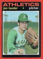 1971 Topps #45 Jim Catfish Hunter EX-EXMINT+ Oakland Athletics A's HOF FREE S/H