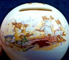 Vintage Royal Doulton Money Ball Bunnykins Globe Bank/Stopper Bath Time Bubbles