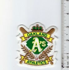 "Vintage 1990s MLB Oakland A's 3.5"" h x 3"" wide Patch (Sew or iron on)"