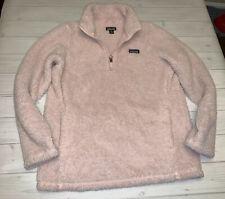 Patagonia Los Gatos Light Pink Girls Fleece Sherpa Pullover XL 14