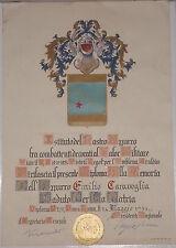 WW1 ww2 PNF DIPLOMA ISTITUTO NASTRO AZZURRO MEDAGLIA D'ORO VALORE MILITARE att1