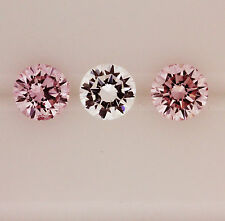 0.11ct!! AUST ARGYLE PINK DIAMONDS MATCHING PAIR 100% UNTREATED +CERT INCLUDED